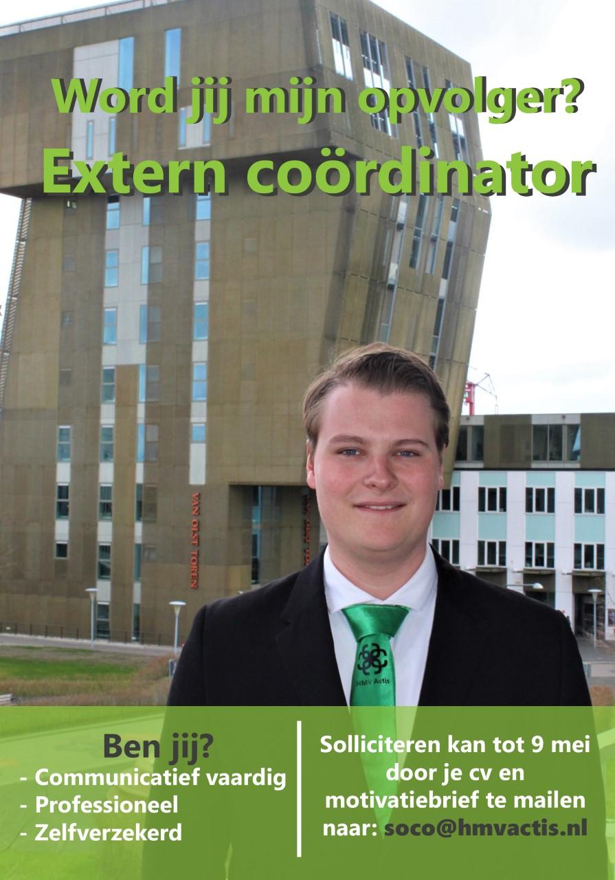 Word jij de nieuwe Extern Coördinator?