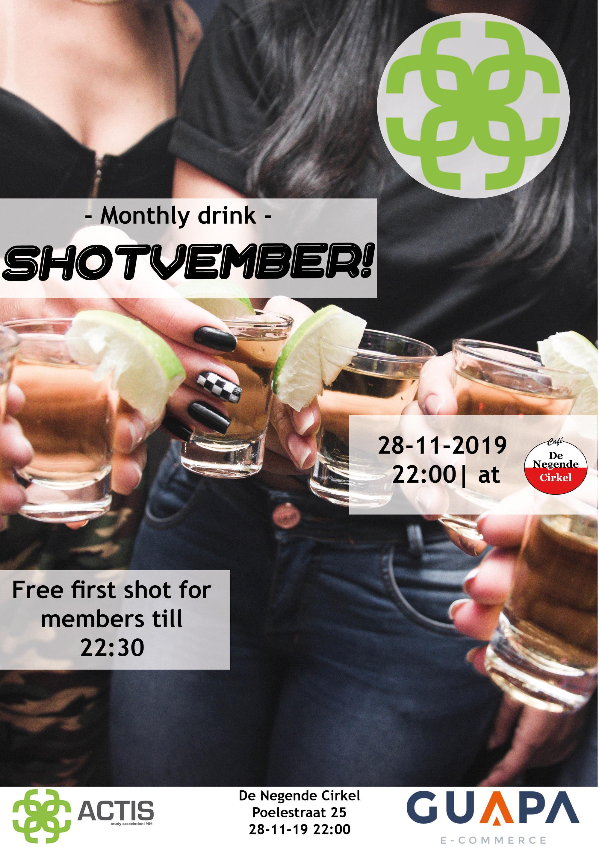 Third monthly drink: Shotvember