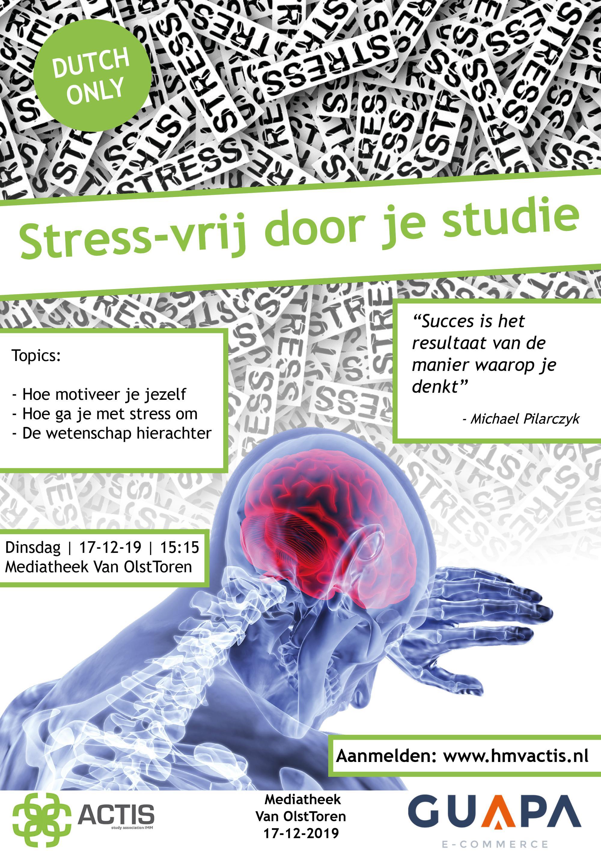 Lezing stress-vrij door je studie