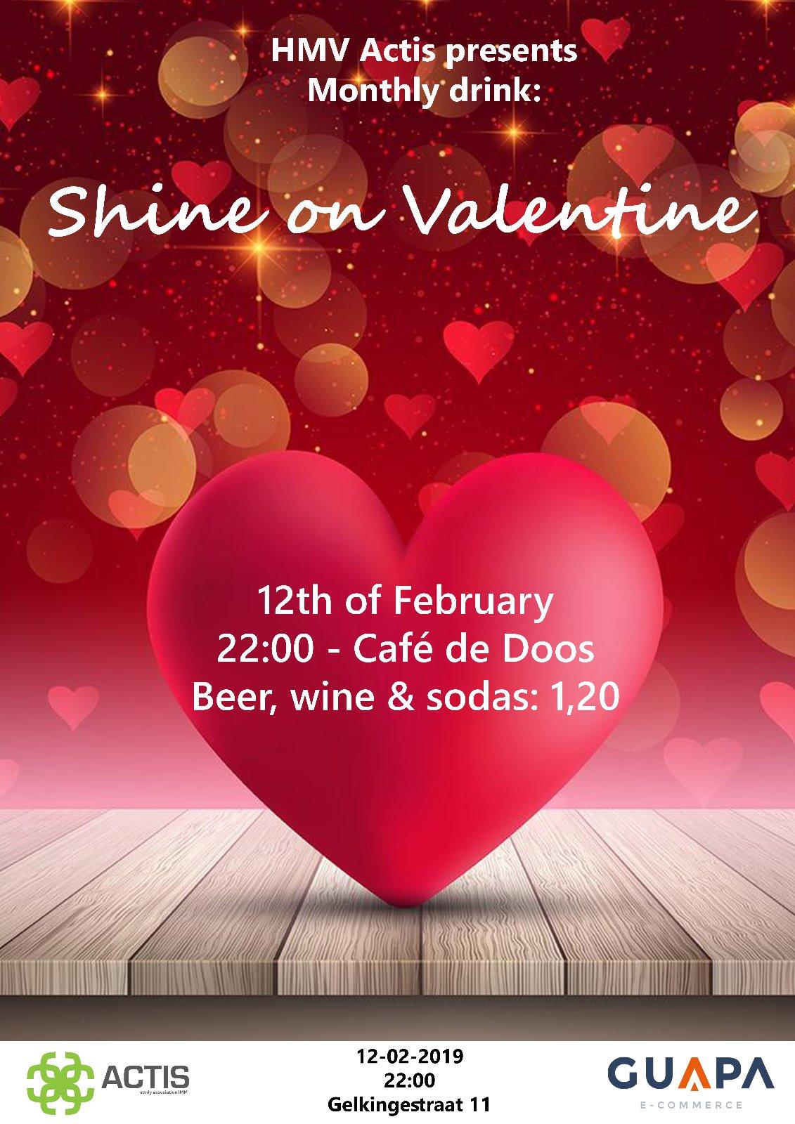 Shine on valentine drink