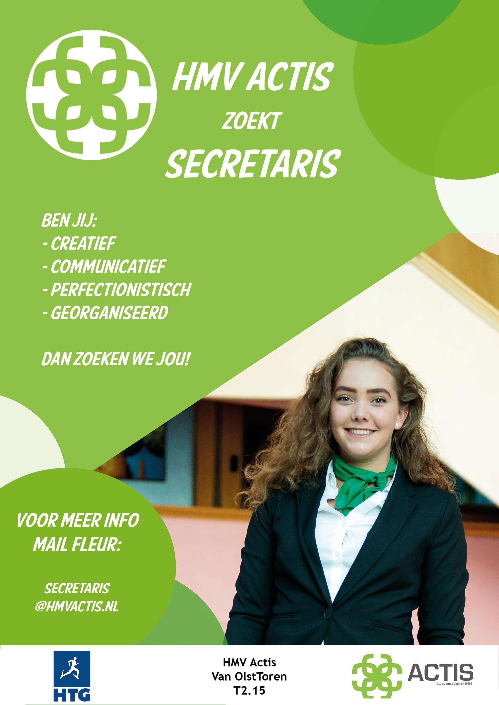 Word jij de nieuwe secretaris?