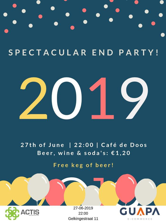 Monthly drink: Spectacular end party
